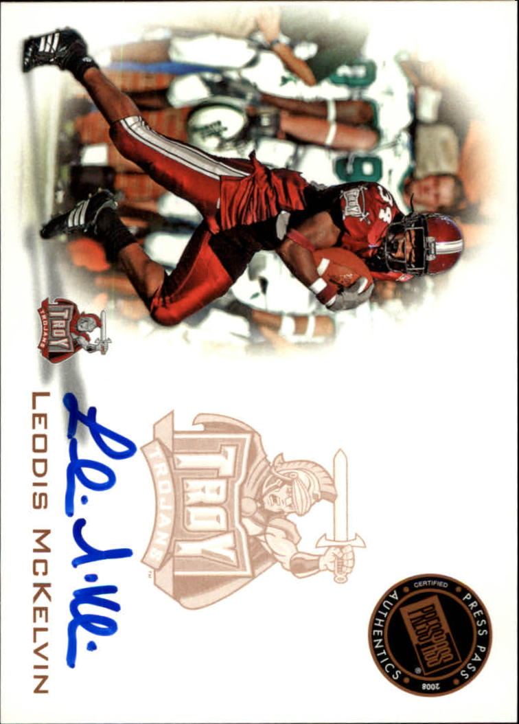 2008 Press Pass Autographs Bronze #PPSLM Leodis McKelvin