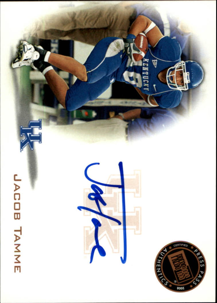 2008 Press Pass Autographs Bronze #PPSJT Jacob Tamme