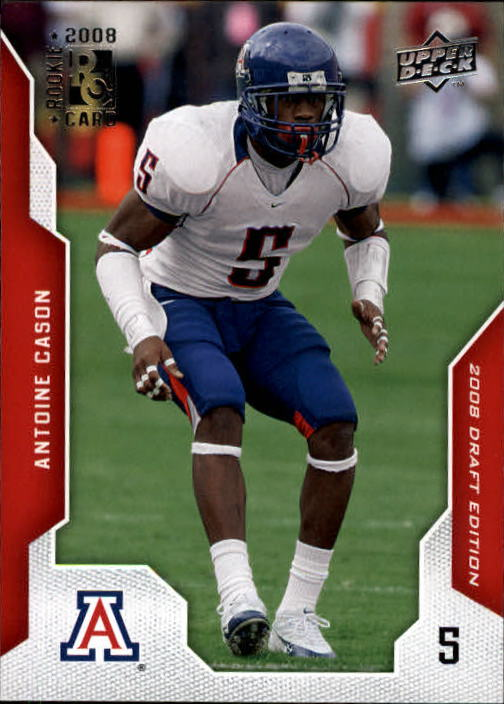 2008 Upper Deck Draft Edition #6 Antoine Cason RC