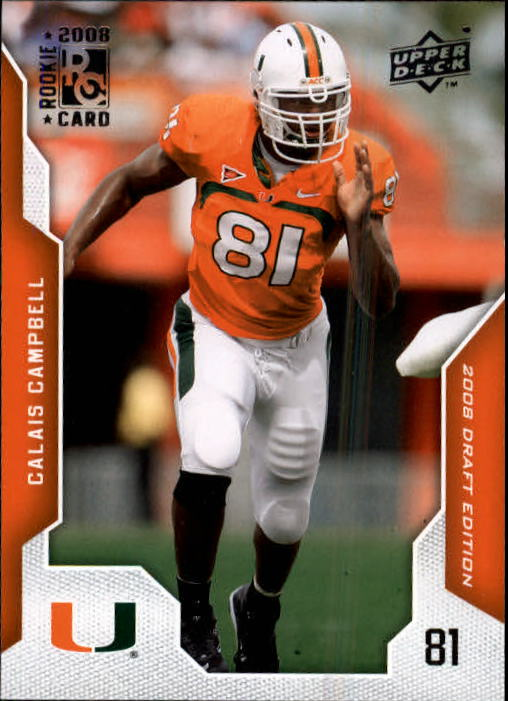 2008 Upper Deck Draft Edition #11 Calais Campbell RC