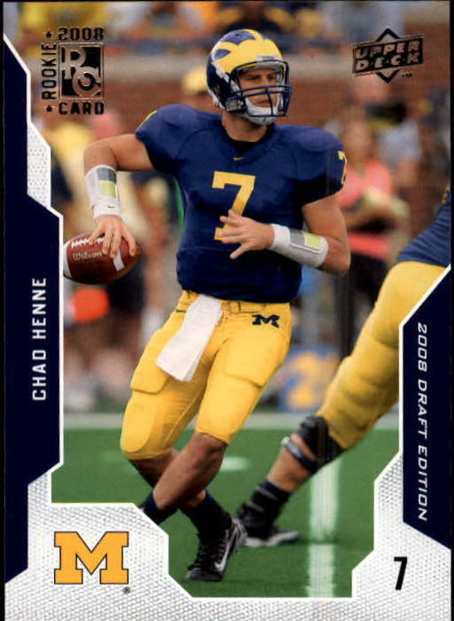2008 Upper Deck Draft Edition #12 Chad Henne RC
