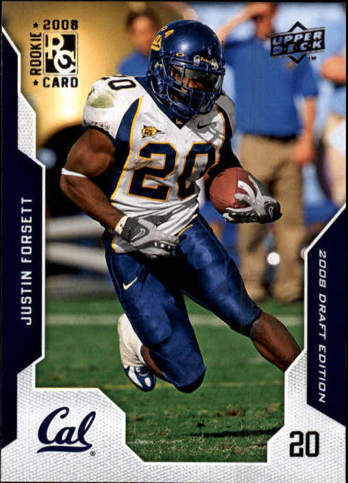 2008 Upper Deck Draft Edition #15 Justin Forsett RC