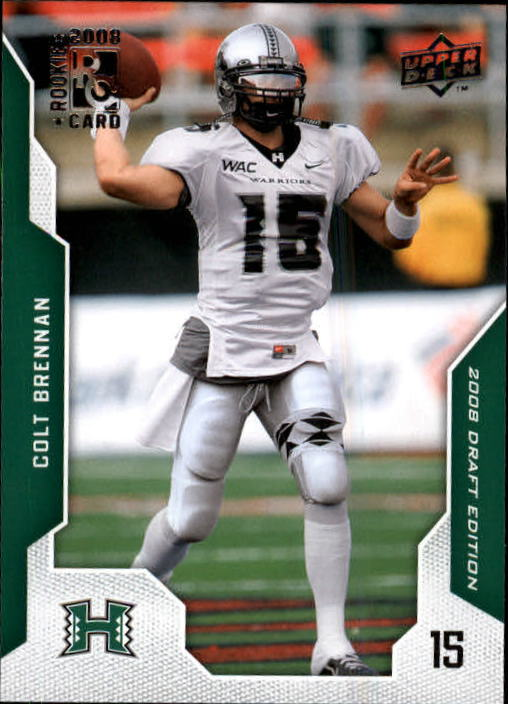 2008 Upper Deck Draft Edition #18 Colt Brennan RC