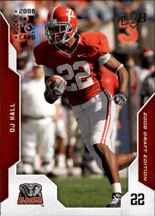 2008 Upper Deck Draft Edition #20 DJ Hall RC