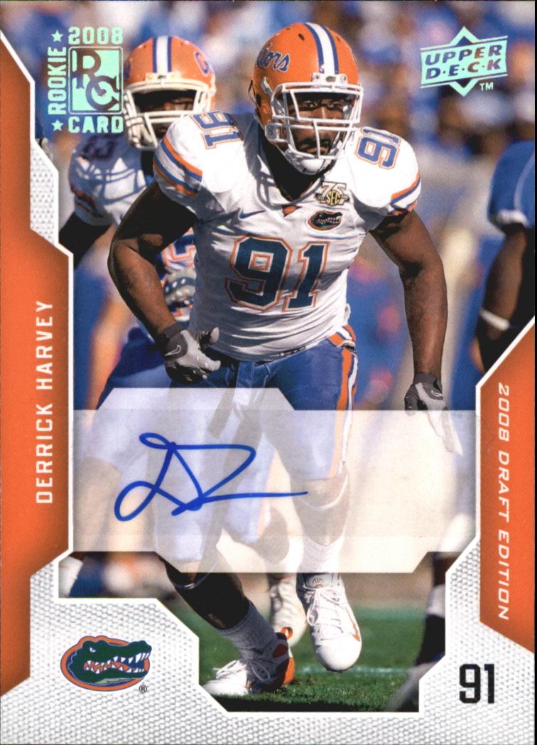 2008 Upper Deck Draft Edition Autographs #25 Derrick Harvey