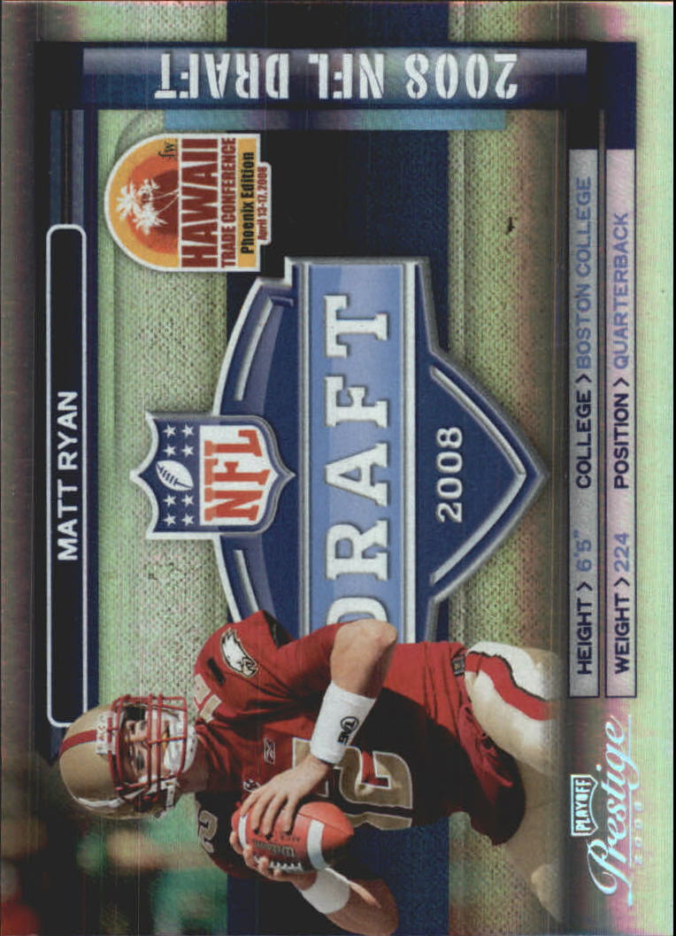 2008 Playoff Prestige Hawaii Trade Conference #5 Matt Ryan/NFL Draft
