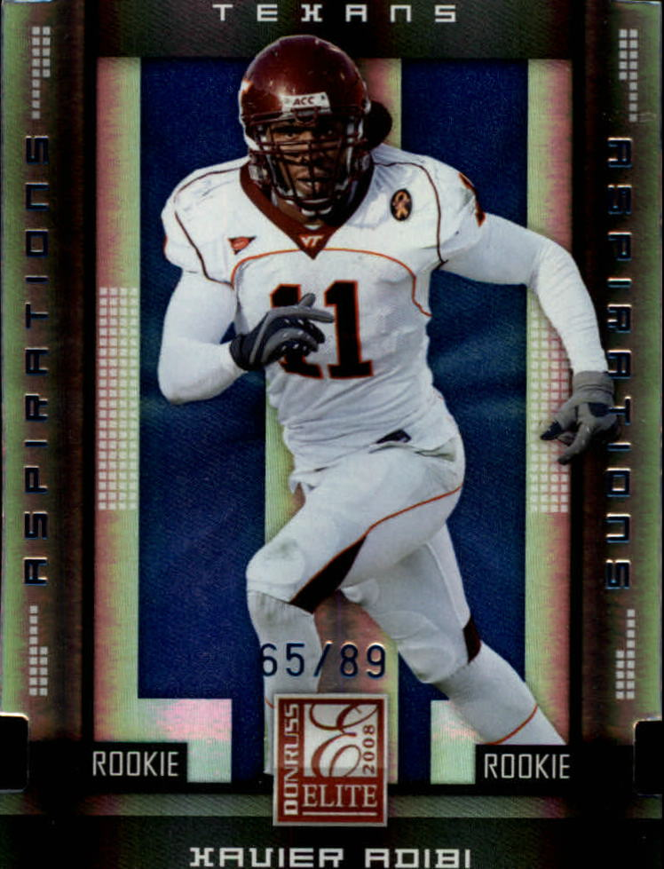 2008 Donruss Elite Aspirations #188 Xavier Adibi/89