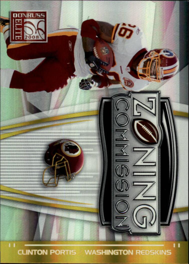 2008 Donruss Elite Zoning Commission Gold #18 Clinton Portis
