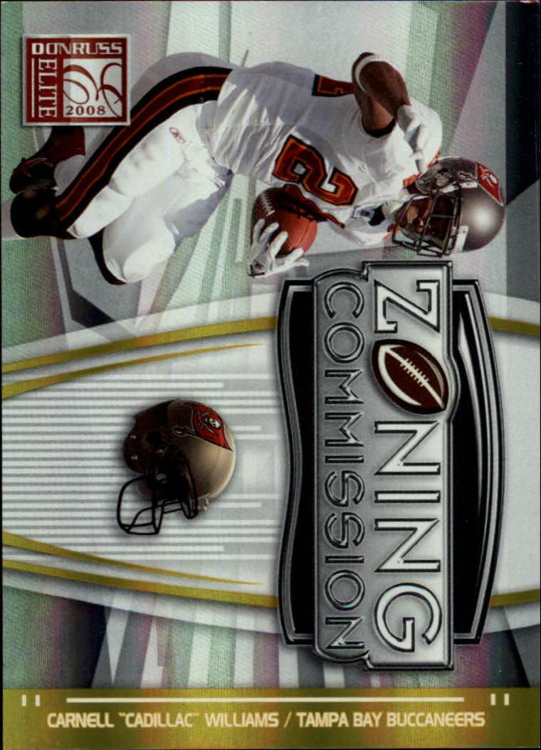 2008 Donruss Elite Zoning Commission Gold #39 Cadillac Williams