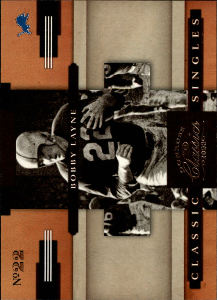 2008 Donruss Classics Classic Singles #20 Bobby Layne