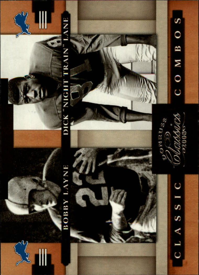 2008 Donruss Classics Classic Combos #5 Bobby Layne/Dick Lane