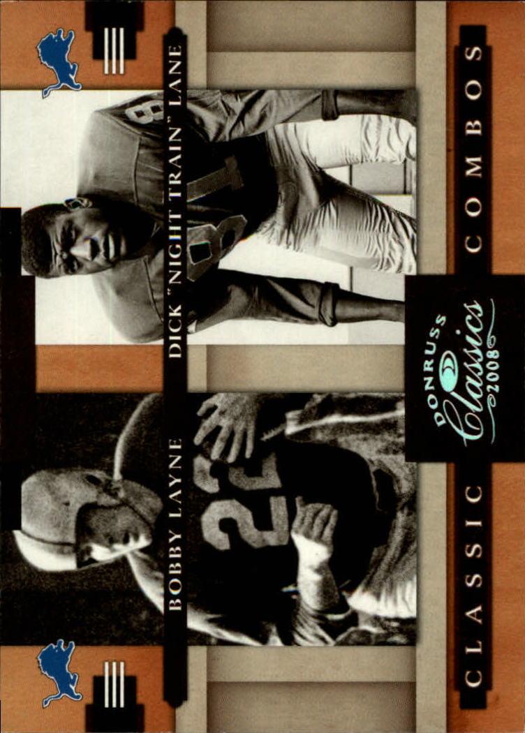 2008 Donruss Classics Classic Combos Silver Holofoil #5 Bobby Layne/Dick Lane