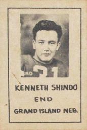 1939 Nebraska Don Leon Coffee #6 Kenneth Shindo