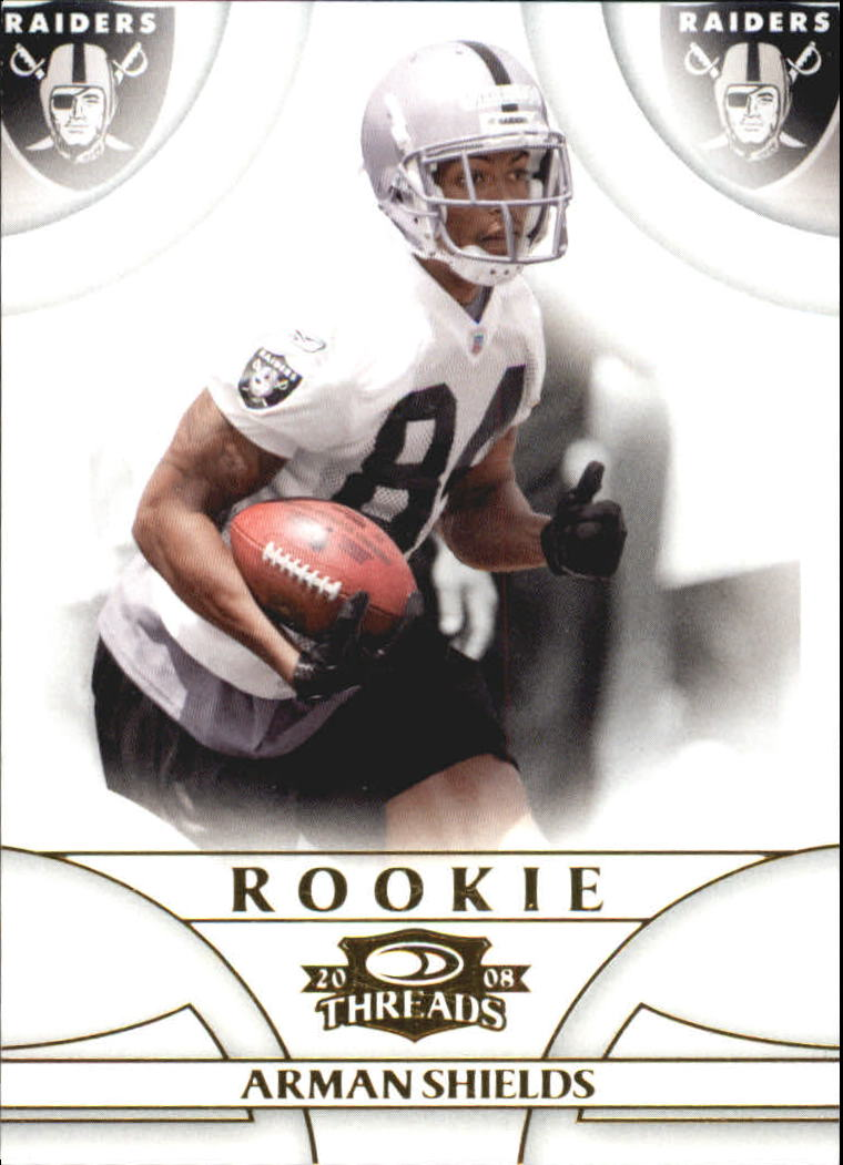 2008 Donruss Threads Retail Rookies #158 Arman Shields RC
