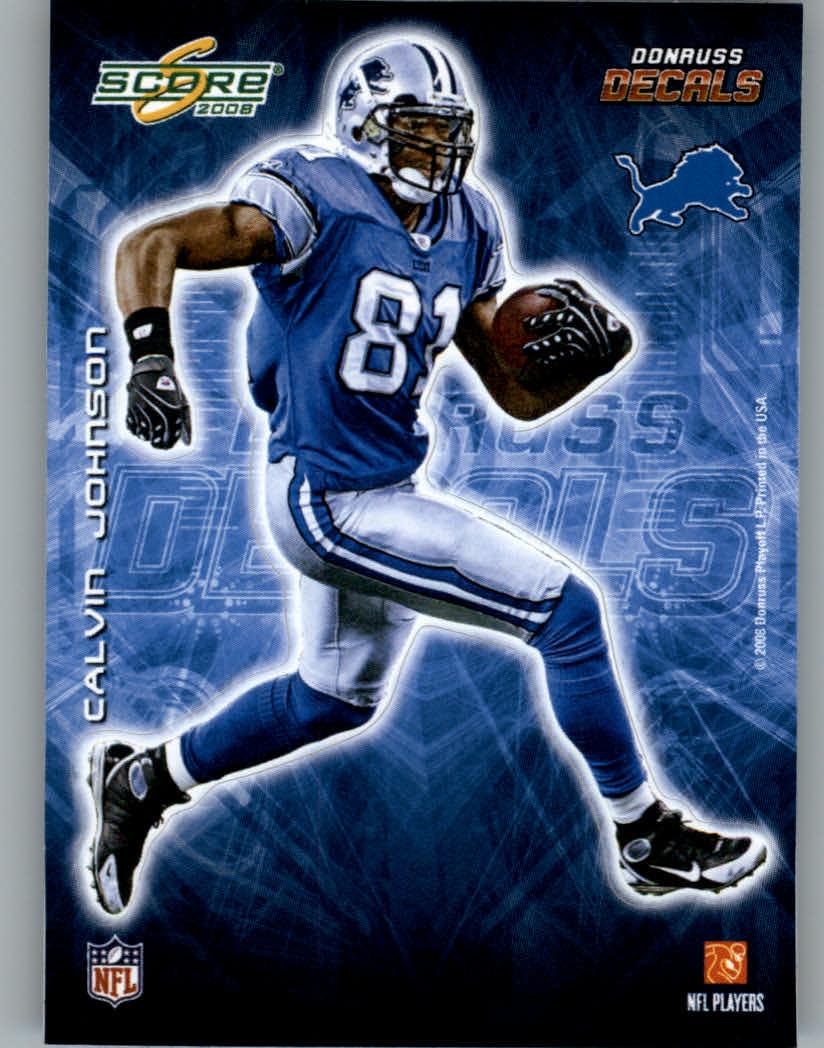 2008 Score Player Decals #14 Calvin Johnson
