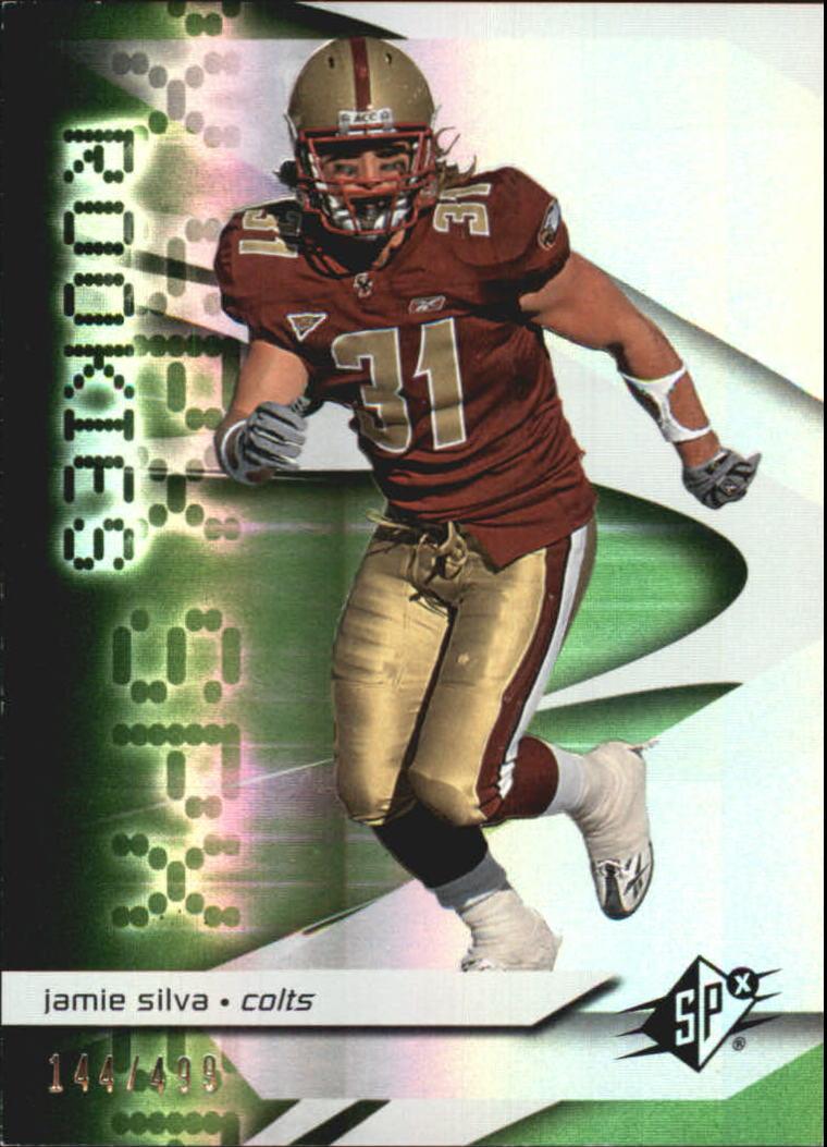 2008 SPx Green Holofoil Rookies #107 Jamie Silva