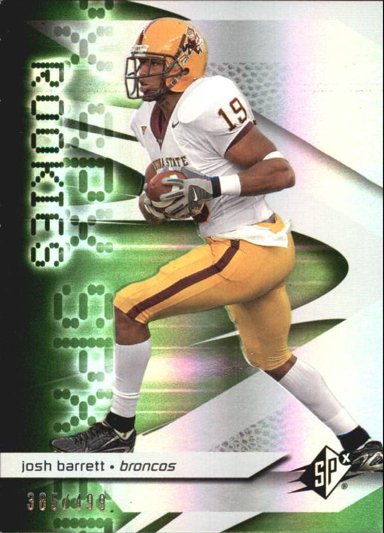 2008 SPx Green Holofoil Rookies #115 Josh Barrett
