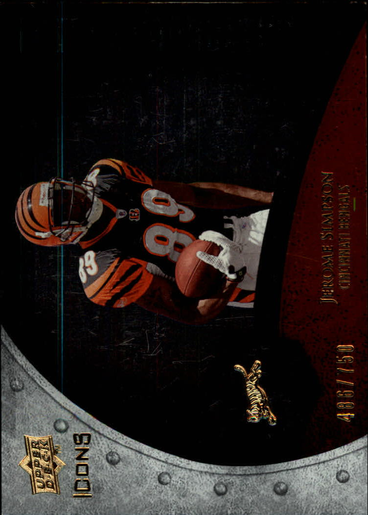 2008 Upper Deck Icons Future Foundations Silver #FF18 Jerome Simpson