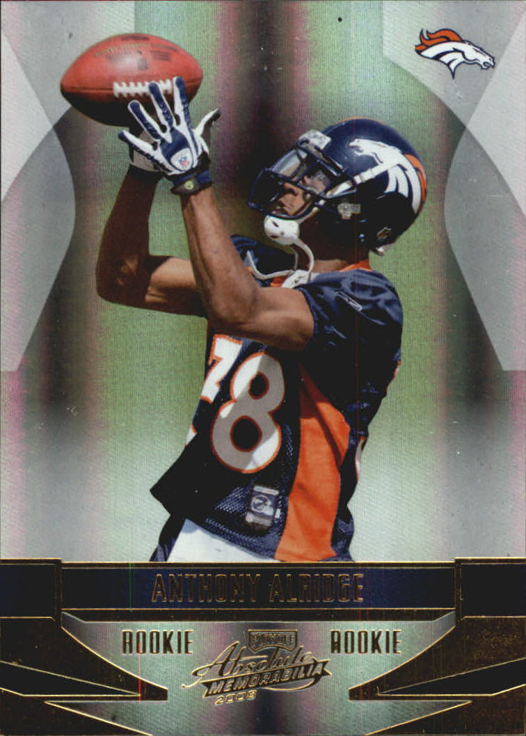 2008 Absolute Memorabilia #156 Anthony Alridge RC
