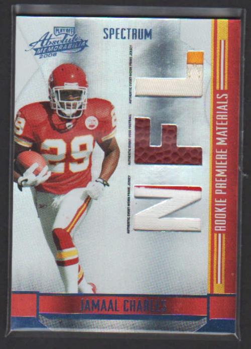 2008 Absolute Memorabilia Rookie Premiere Materials NFL Spectrum Prime #257 Jamaal Charles