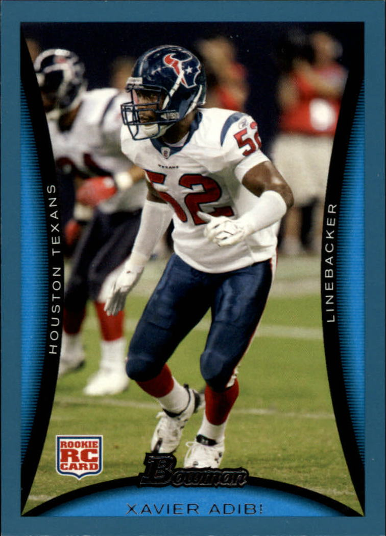 2008 Bowman Blue #252 Xavier Adibi