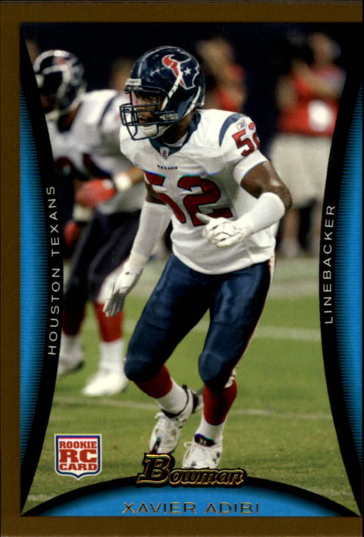 2008 Bowman Gold #252 Xavier Adibi