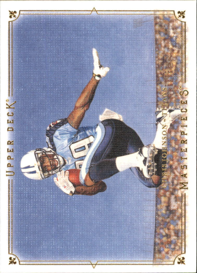 2008 UD Masterpieces #38 Chris Johnson RC