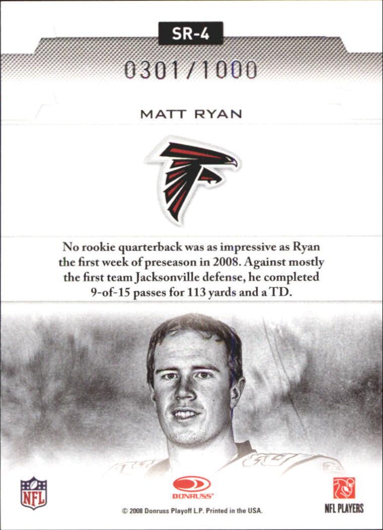 2008 Leaf Rookies and Stars Studio Rookies #4 Matt Ryan back image