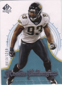 2008 SP Authentic #137 Quentin Groves RC