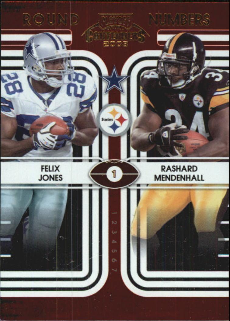 2008 Playoff Contenders Round Numbers #7 Felix Jones/Rashard Mendenhall