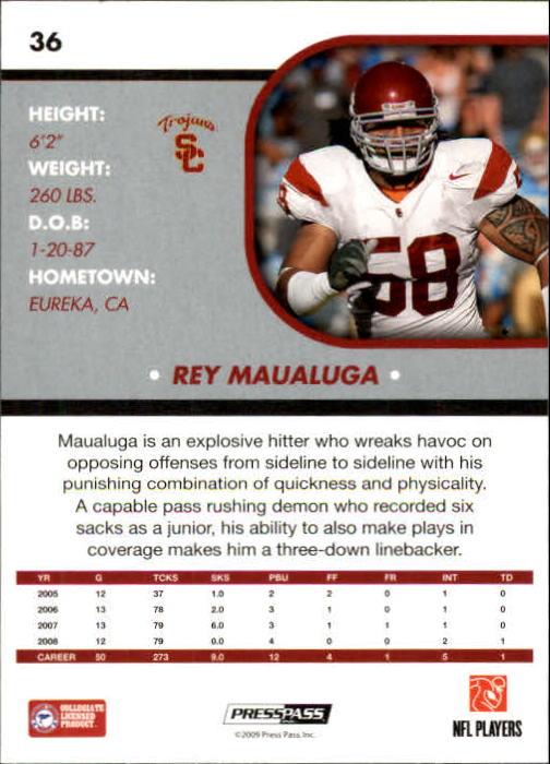 2009 Press Pass SE #36 Rey Maualuga back image