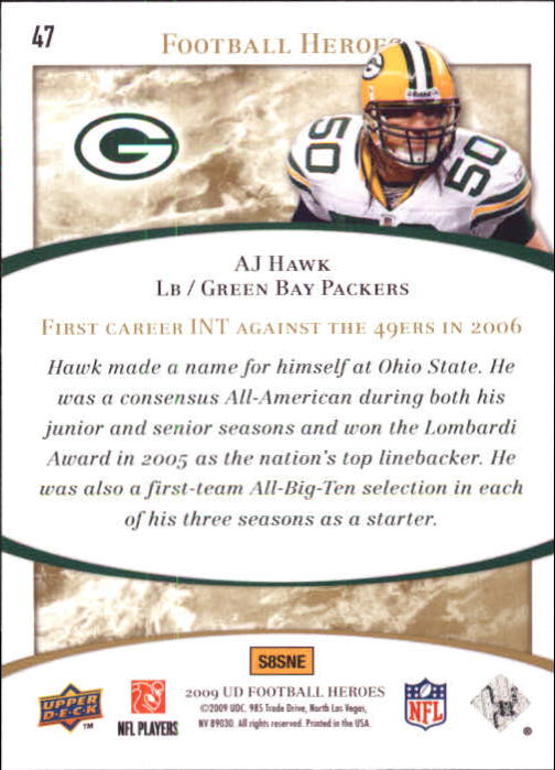 2009-Upper-Deck-Heroes-Football-1-269-Your-Choice-GOTBASEBALLCARDS thumbnail 75