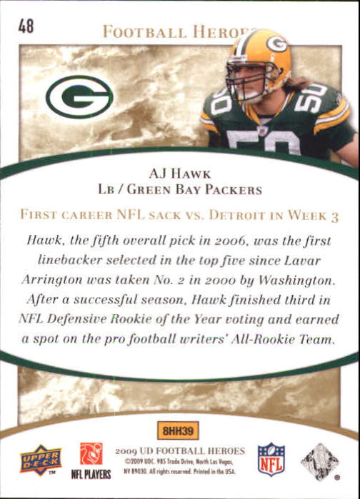 2009-Upper-Deck-Heroes-Football-1-269-Your-Choice-GOTBASEBALLCARDS thumbnail 77