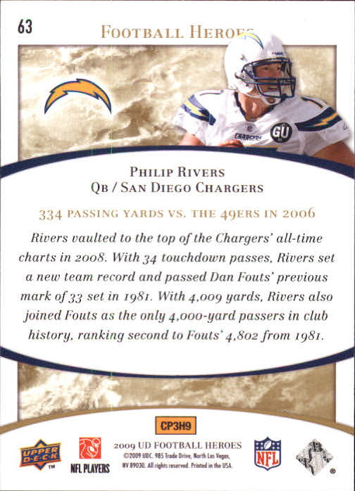 2009-Upper-Deck-Heroes-Football-1-269-Your-Choice-GOTBASEBALLCARDS thumbnail 107