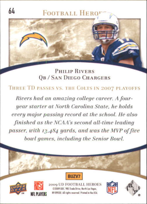 2009-Upper-Deck-Heroes-Football-1-269-Your-Choice-GOTBASEBALLCARDS thumbnail 109