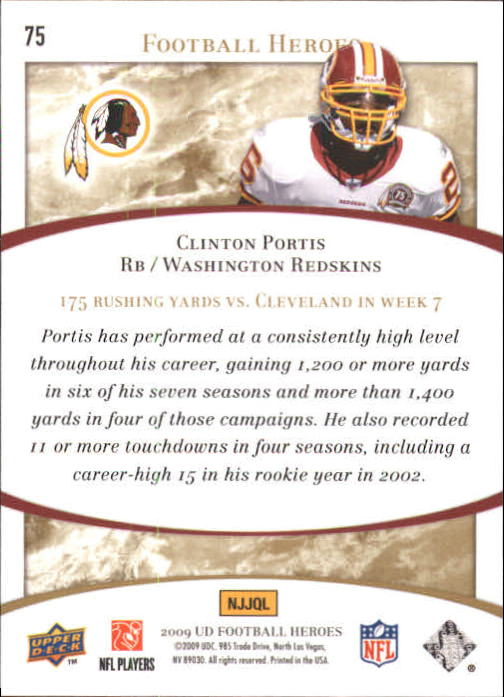 2009-Upper-Deck-Heroes-Football-1-269-Your-Choice-GOTBASEBALLCARDS thumbnail 123