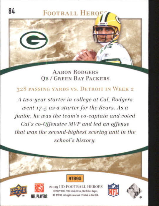 2009-Upper-Deck-Heroes-Football-1-269-Your-Choice-GOTBASEBALLCARDS thumbnail 135