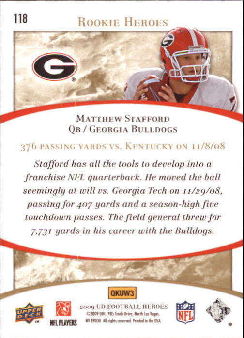2009-Upper-Deck-Heroes-Football-1-269-Your-Choice-GOTBASEBALLCARDS thumbnail 199