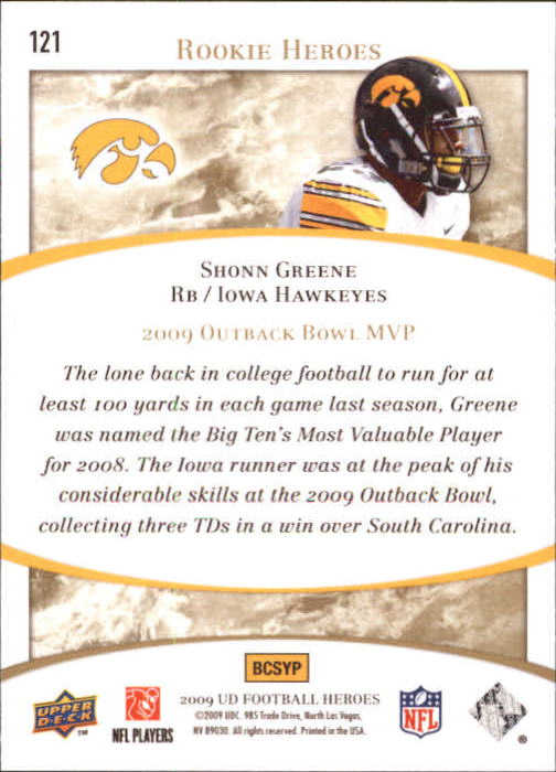 2009-Upper-Deck-Heroes-Football-1-269-Your-Choice-GOTBASEBALLCARDS thumbnail 205