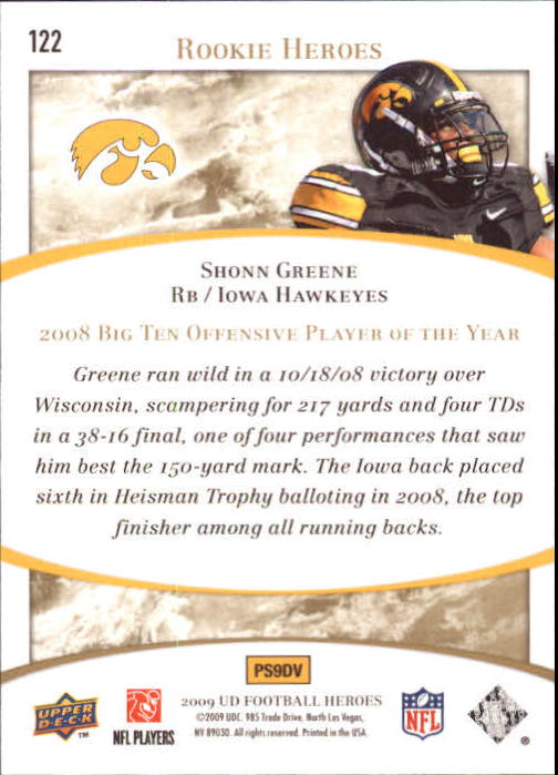 2009-Upper-Deck-Heroes-Football-1-269-Your-Choice-GOTBASEBALLCARDS thumbnail 207