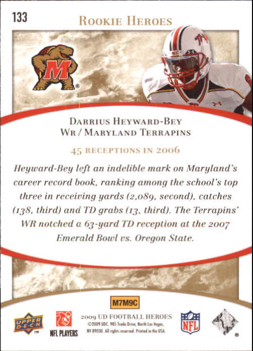 2009-Upper-Deck-Heroes-Football-1-269-Your-Choice-GOTBASEBALLCARDS thumbnail 229