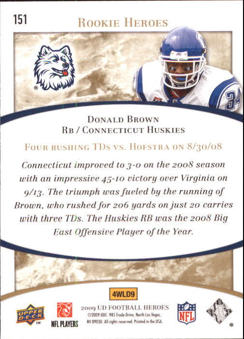 2009-Upper-Deck-Heroes-Football-1-269-Your-Choice-GOTBASEBALLCARDS thumbnail 265