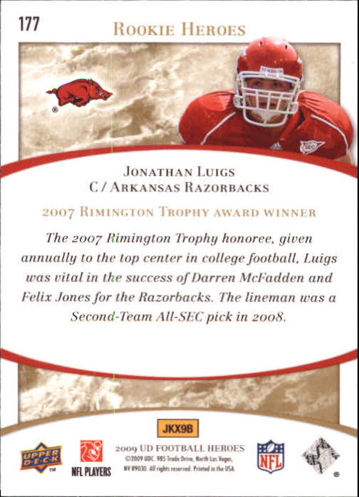 2009-Upper-Deck-Heroes-Football-1-269-Your-Choice-GOTBASEBALLCARDS thumbnail 311