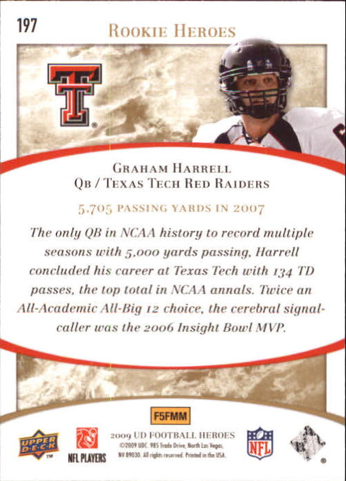 2009-Upper-Deck-Heroes-Football-1-269-Your-Choice-GOTBASEBALLCARDS thumbnail 347