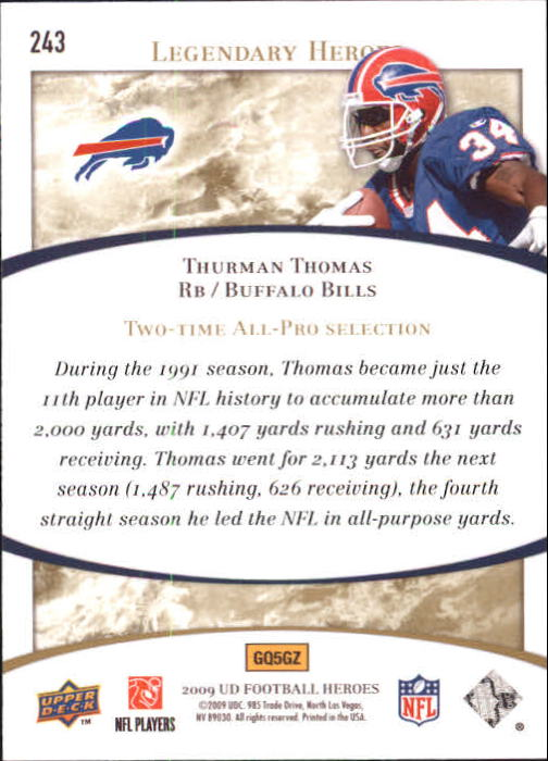 2009-Upper-Deck-Heroes-Football-1-269-Your-Choice-GOTBASEBALLCARDS thumbnail 401
