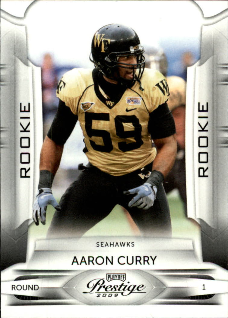 2009 Playoff Prestige #101A Aaron Curry RC
