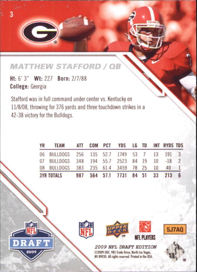 2009-Upper-Deck-Draft-Edition-Football-1-255-Your-Choice-GOTBASEBALLCARDS thumbnail 5
