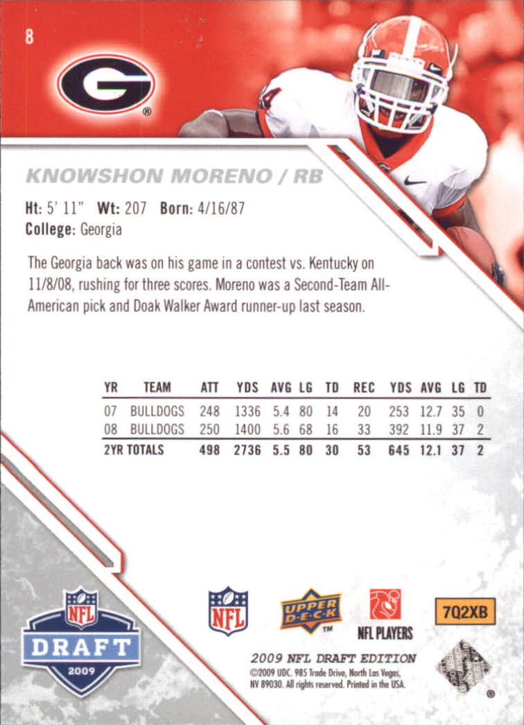 2009-Upper-Deck-Draft-Edition-Football-1-255-Your-Choice-GOTBASEBALLCARDS thumbnail 11
