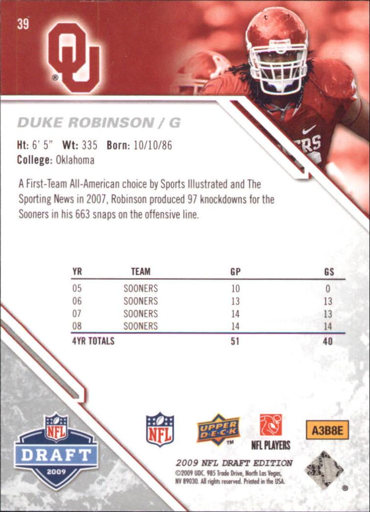 2009-Upper-Deck-Draft-Edition-Football-1-255-Your-Choice-GOTBASEBALLCARDS thumbnail 63