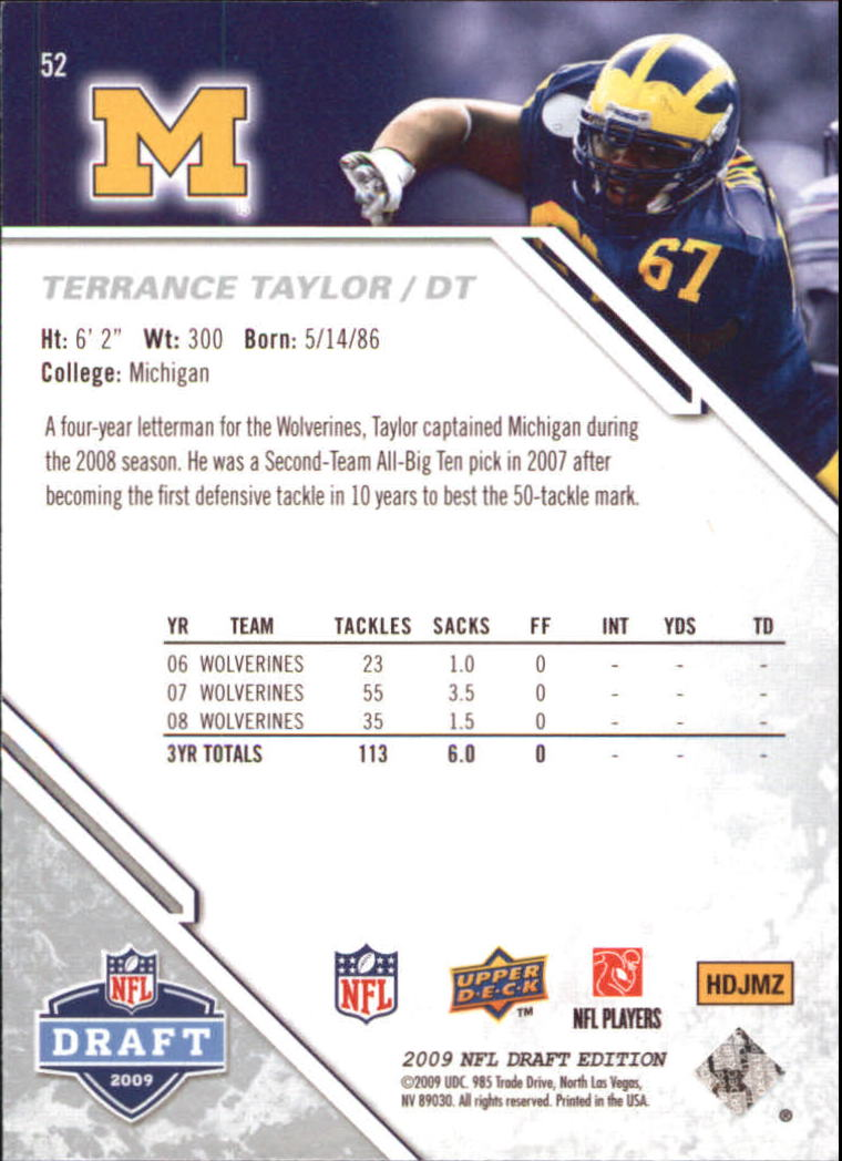 2009-Upper-Deck-Draft-Edition-Football-1-255-Your-Choice-GOTBASEBALLCARDS thumbnail 81